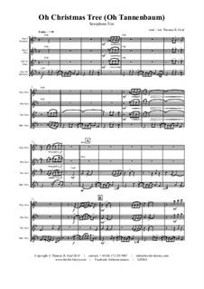 O Christmas Tree (O Tannenbaum): For saxophone trio by folklore