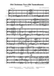 O Christmas Tree (O Tannenbaum): For string trio by folklore