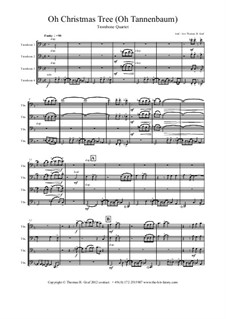 O Christmas Tree (O Tannenbaum): For trombone quartet by folklore