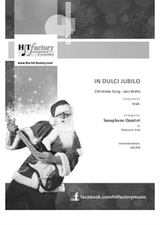 In dulci jubilo: For saxophone quartet by folklore