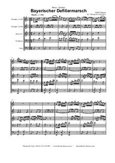 Bayerischer Defiliermarsch - German March - Oktoberfest: For brass quintet by Adolf Scherzer