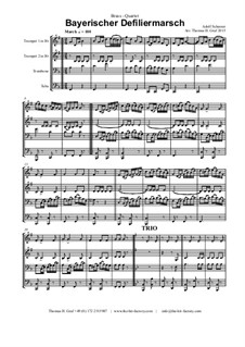 Bayerischer Defiliermarsch - German March - Oktoberfest: For brass quartet by Adolf Scherzer