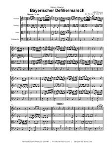 Bayerischer Defiliermarsch - German March - Oktoberfest: For string quartet by Adolf Scherzer