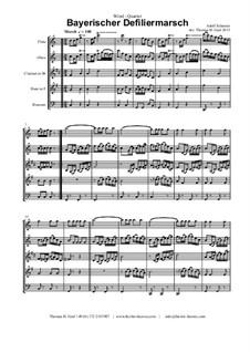 Bayerischer Defiliermarsch - German March - Oktoberfest: For wind quintet by Adolf Scherzer