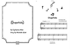 Chopsticks: For easy piano by Euphemia Allen