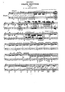 Septet for Winds and Strings, Op.20: Version for piano four hands by F. Liszt by Ludwig van Beethoven