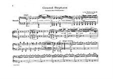 Septet for Winds and Strings, Op.20: Version for piano four hands by Ludwig van Beethoven