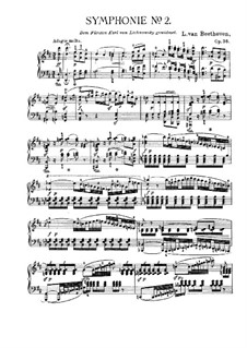 Symphony No.2, Op.36: Version for piano by Ludwig van Beethoven