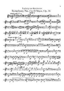 Symphony No.2, Op.36: Oboes parts by Ludwig van Beethoven