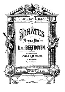 Sonata for Violin and Piano No.9 'Kreutzer', Op.47: Version for piano by Ludwig van Beethoven