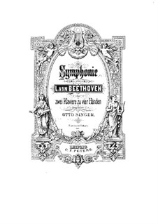 Symphony No.3 'Eroica', Op.55: Version for two pianos four hands by Ludwig van Beethoven
