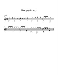 Humpty Dumpty: For guitar by folklore