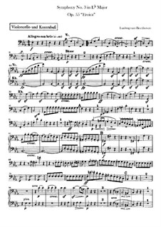 Symphony No.3 'Eroica', Op.55: Cello and double bass part by Ludwig van Beethoven