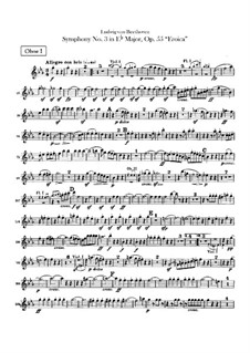 Symphony No.3 'Eroica', Op.55: Oboes parts by Ludwig van Beethoven