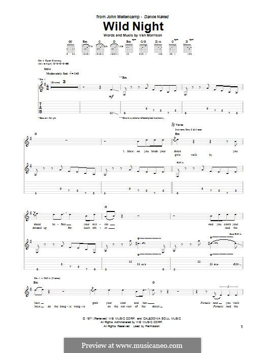 Wild Night: For guitar with tab by John Mellencamp