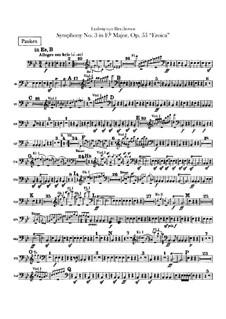 Symphony No.3 'Eroica', Op.55: Timpani part by Ludwig van Beethoven