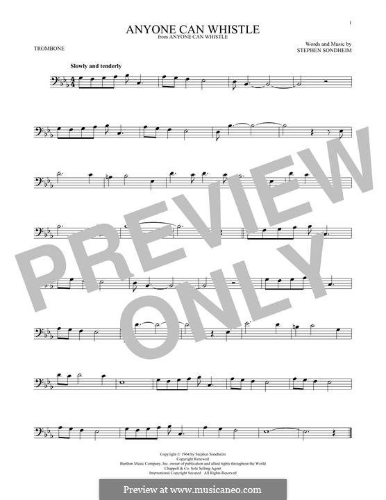 Anyone Can Whistle: For trombone by Stephen Sondheim