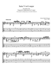 Suite in G Major No.5: Suite in G Major No.5 by Johann Jacob Froberger