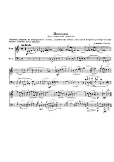 Melody in F Major, for French Horn and Piano: Melody in F Major, for French Horn and Piano by Domenico Zipoli