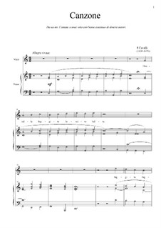 Donzelle, fuggite: For voice and piano (C Major) by Pietro Francesco Cavalli