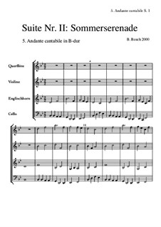 Suite Nr.2: 5 Andante cantabile by Bernhard Bauch