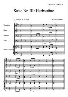 Suite Nr.3: 3 Kanon F-Dur by Bernhard Bauch