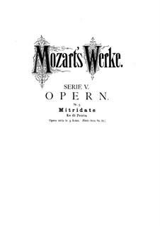 Complete Opera: Overture by Wolfgang Amadeus Mozart