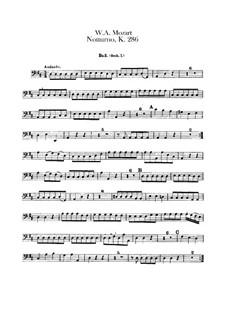 Nocturne for Four Orchestras in D Major, K.286: Cello parts by Wolfgang Amadeus Mozart
