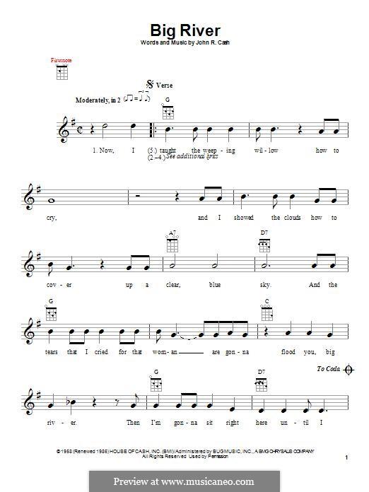 Big River: For ukulele by Johnny Cash