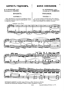 Fragments: Prologue. Version for piano by Modest Mussorgsky