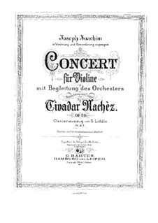 Violin Concerto No.1 in E Minor, Op.30: Version for violin and piano by Tivadar Nachéz