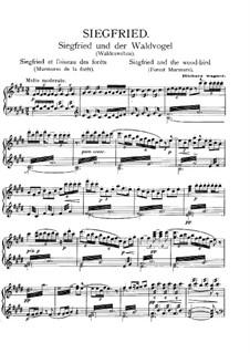 Siegfried (Sigurd), WWV 86c: Forest Murmurs, for piano by Richard Wagner