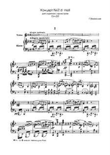 Concerto for Violin and Orchestra No.2, Op.22: Version for violin and piano by Henryk Wieniawski