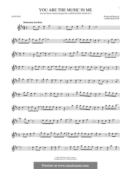 You are the Music in Me (High School Musical 2): For alto saxophone by Jamie Houston