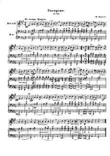 Four Impromptus for Piano, D.935 Op.142: Impromptu No.2, for horn and piano by Franz Schubert