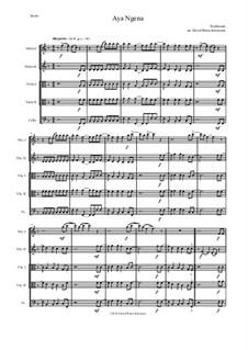 Aya Ngena: For 2 violins, 2 violas, 1 cello by folklore