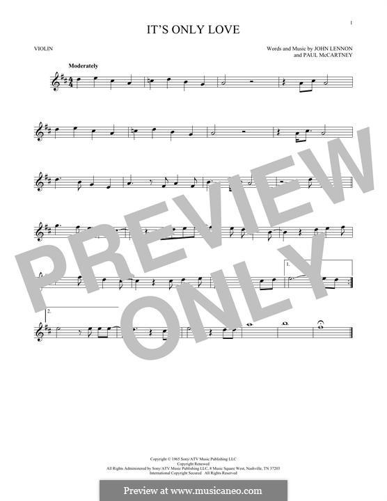 It Won't Be Long (The Beatles): For violin by John Lennon, Paul McCartney