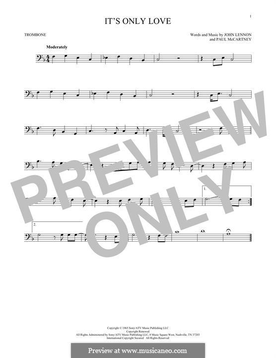 It Won't Be Long (The Beatles): For trombone by John Lennon, Paul McCartney