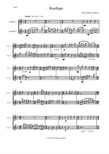 Rooftops: For two clarinets by David W Solomons