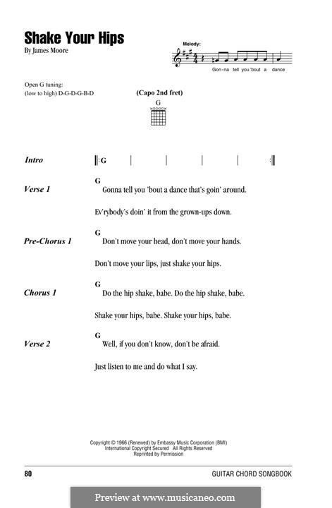 Shake Your Hips (The Rolling Stones): Lyrics and chords by James Moore
