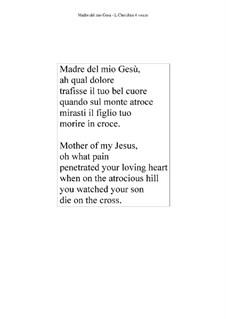 Madre del mio Gesù - SSAA: Madre del mio Gesù - SSAA by Luigi Cherubini