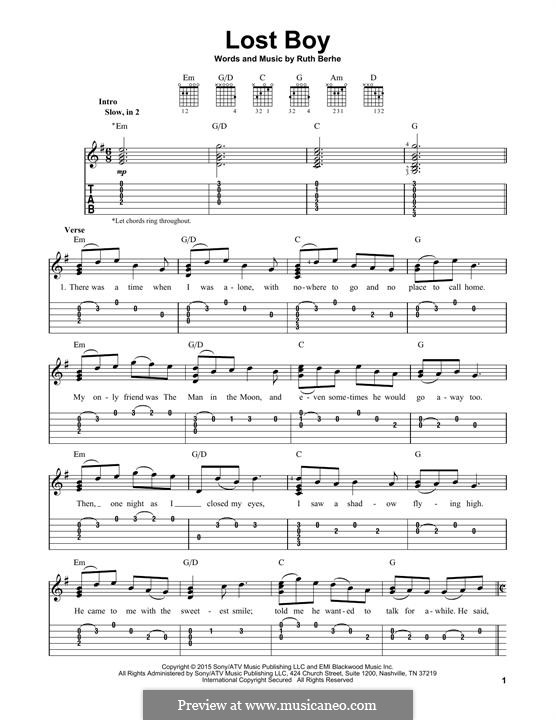 Lost Boy: For guitar with tab by Ruth Berhe