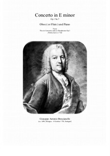 12 concerti e sinphonie, Op.1: Concerto No.7 in E minor for oboe (or flute) and piano by Giuseppe Antonio Brescianello