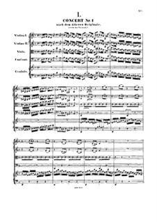Concerto for Harpsichord and Strings No.1 in D Minor , BWV 1052: First version by Johann Sebastian Bach