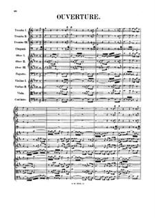 Orchestral Suite No.4 in D Major, BWV 1069: Full score by Johann Sebastian Bach