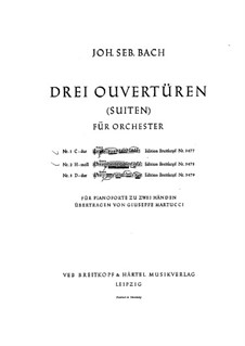 Orchestral Suite No.1 in C Major, BWV 1066: Arrangement for piano by Johann Sebastian Bach