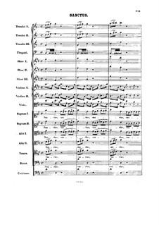 Sanctus: Full score by Johann Sebastian Bach