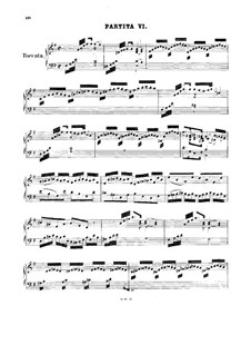 Partita for Keyboard No.6 in E Minor, BWV 830: Version for harpsichord by Johann Sebastian Bach
