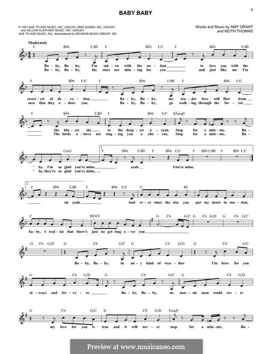 Baby Baby (Amy Grant): Lyrics and chords by Keith Thomas