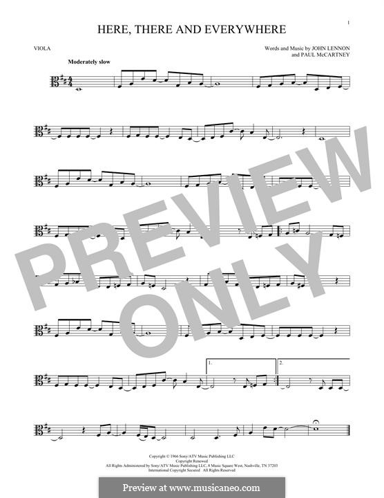 Here, There and Everywhere (The Beatles): For viola by John Lennon, Paul McCartney